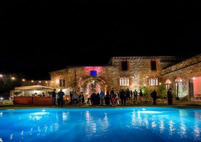 Castello di Cafaggio Festa in Piscina